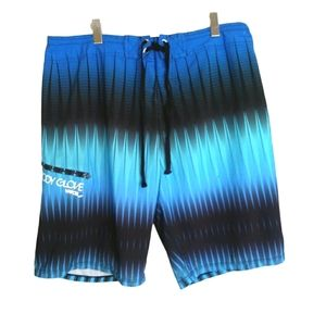 Blue and turquoise shorts